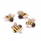 Resin bees, 2 cm, 3 pcs