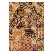 Papier décopatch brun, motif 474, 2 feuilles