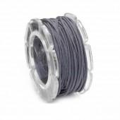 Waxed cord, Ø1mm- 5m, grey