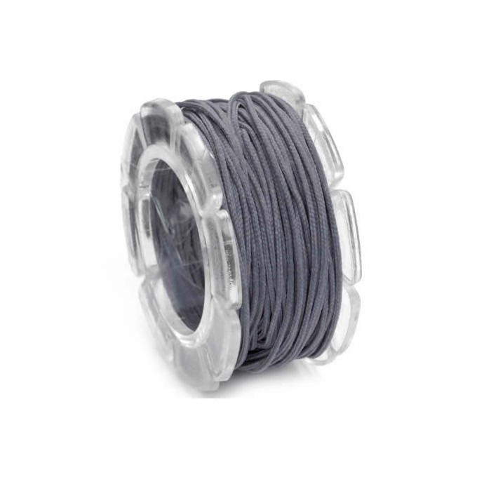 Waxed cord, Ø1mm- 5m, grey