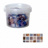 Glass mosaic tiles, lilac mix