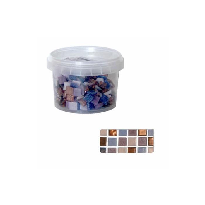Glass mosaic tiles, lilac mix