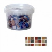 Glass mosaic tiles, nature mix
