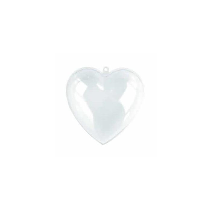 Transparent plastic heart, 95mm