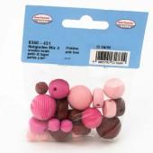 Perles en bois mix pink