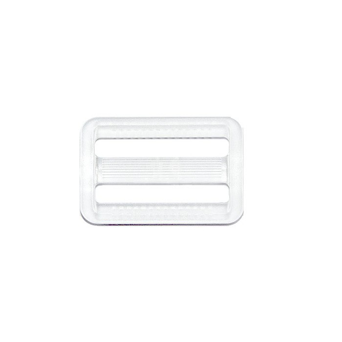 Belt buckle, plastic, clear, 37x25mm, 1 pce