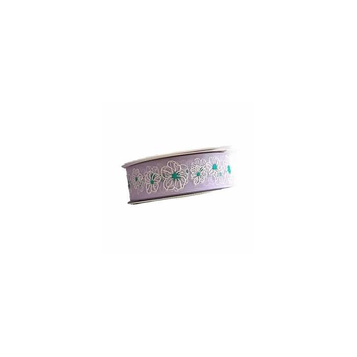 Ribbon Blumen lilac, 15mm/2,5m