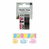 Washi Tape Tea Time, 2 x 15mm/5m