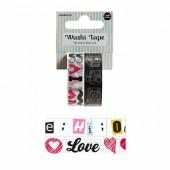 Washi Tape Love, 2 x 15mm/5m