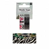 Washi Tape Zebra, 2 x 15mm/5m