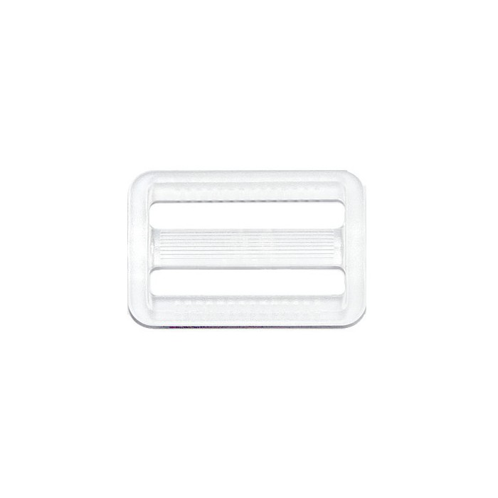 Belt buckle, plastic, clear, 50x38mm, 1 pce