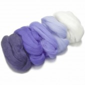 Merino wool extra fine, white-blue