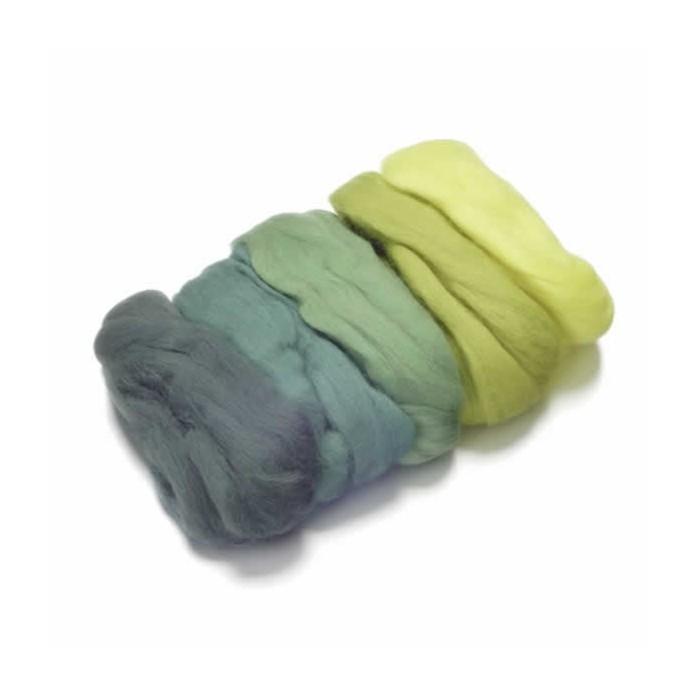 Merino wool extra fine, green-yellow
