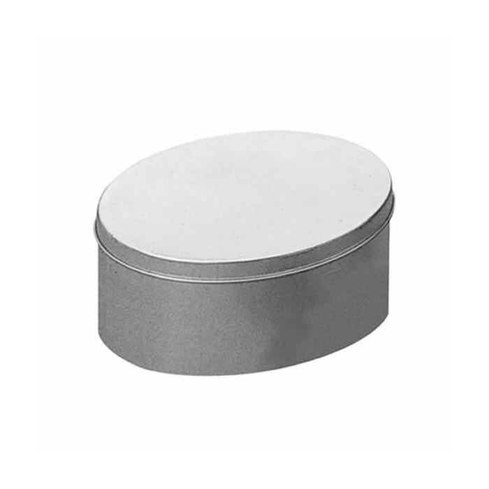 Metallic box, oval,  18x12x9cm