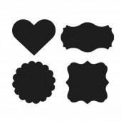 Etiquettes autocollantes surface tableau noir, 12 pcs