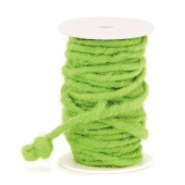 Felt string green,  5-7mm/10m