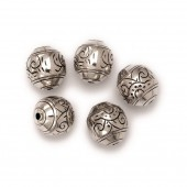 Metal pearls, 19mm, 5 pcs