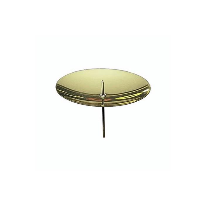 Metal candleholder 50mm, gold, 4 pcs