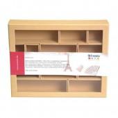 Cadre à compartiments en carton - Shadow Box 288x230mm