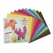 Papier origami 15x15cm, 100 feuilles assorties
