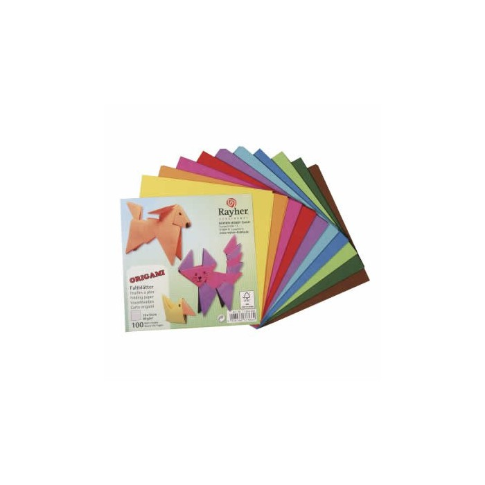 Origami Paper 15x15cm, 100 assorted sheets