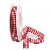Ribbon red/white, 10mm/20m