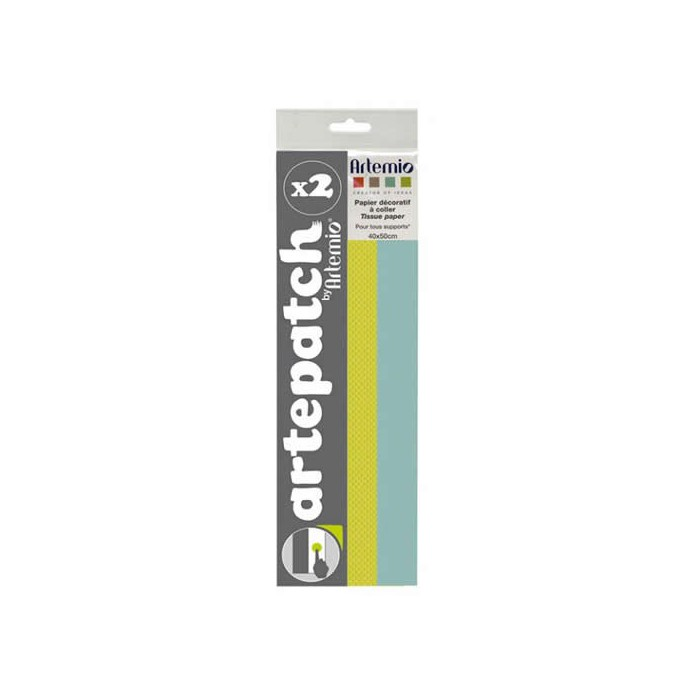 Artepatch paper, Pure green+blue, 2 sheets
