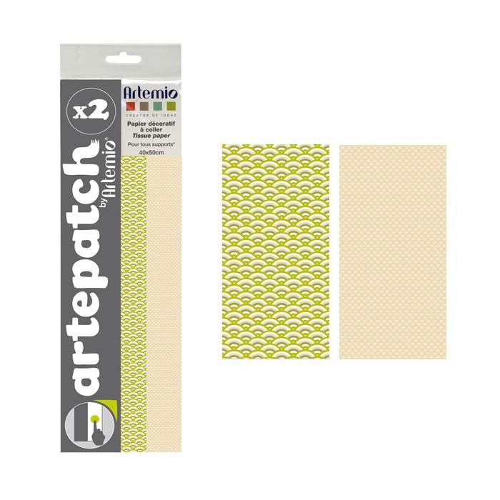 Artepatch paper, Pure Japan + beige, 2 sheets