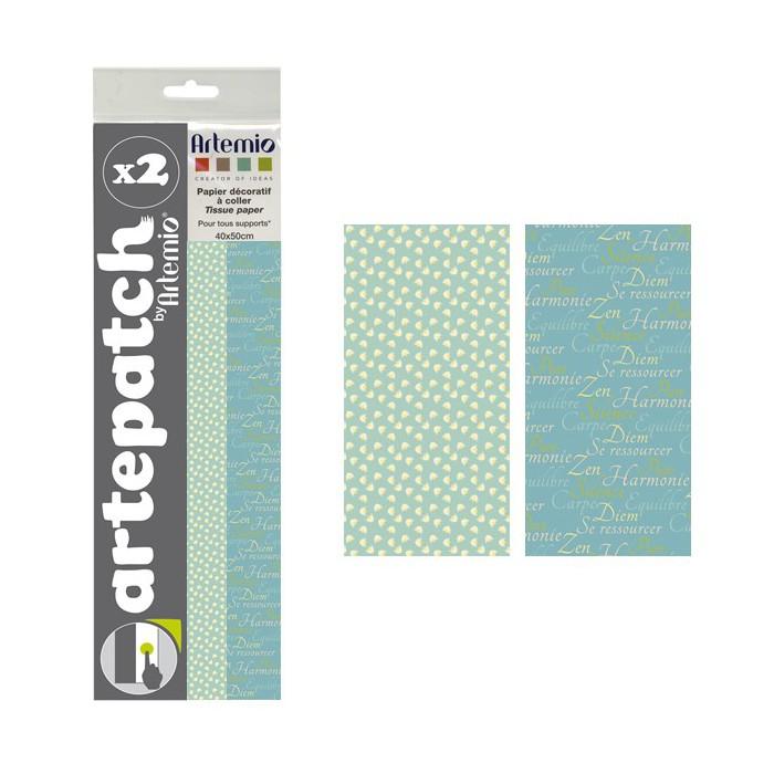 Artepatch paper, Pure Zen + Lotus, 2 sheets