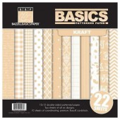Bazzill - Basics patterned paper Kraft