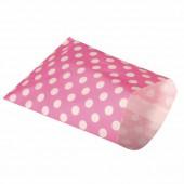 Sachet à friandises en papier, pink pois, 25 pcs