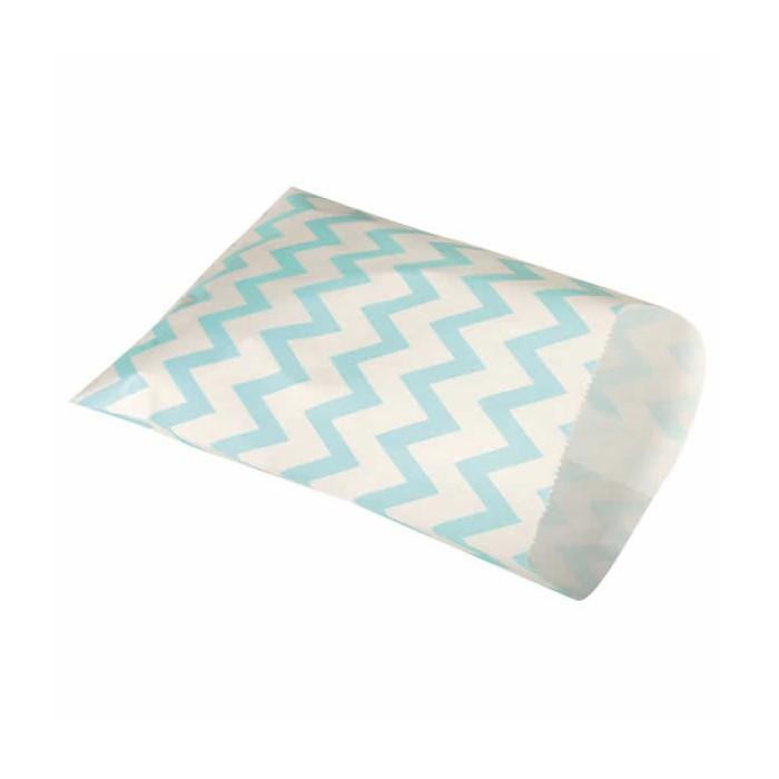 Paper sachets food grade, turquese, 25 pcs
