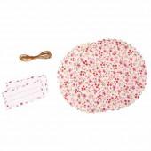 Kit déco pour pot confiture, tissu à fleurs