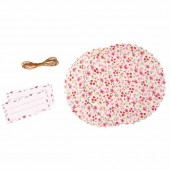 Deco set for jam jar, flowers print