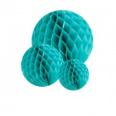 Honeycomb paperballs kit, mint, 5 pcs