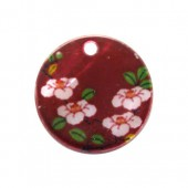 Button 1 hole - Flowers 20mm, 1 pce