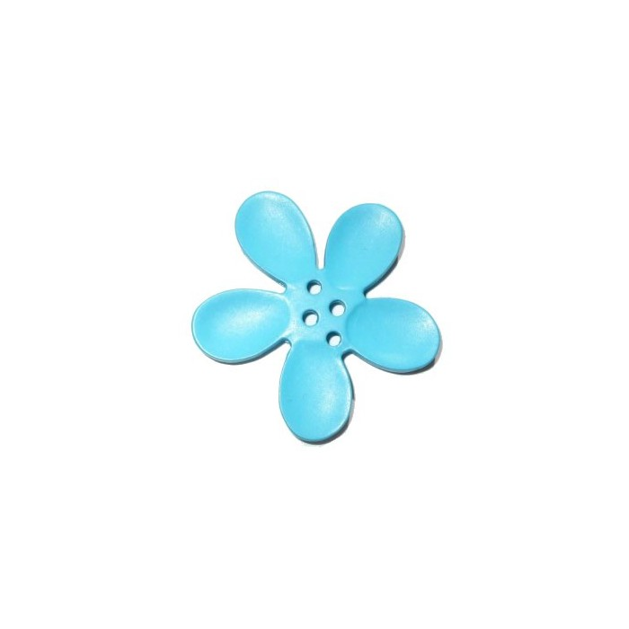 Orchid button 30mm, blue