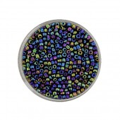 Mix of rocailles dark blue AB 2.6mm, 17g