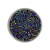 Rocailles mix bleu foncé AB 2.6mm, 17g