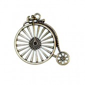 Pendant big old bicycle 43x46mm, bronze, 1 pce