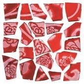 Retro Mosaic, rouge/argent