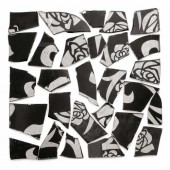 Retro Mosaic, black/silver