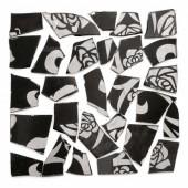 Retro Mosaic, noir/argent