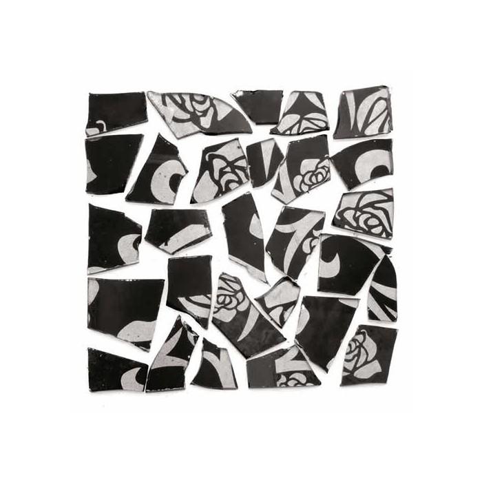 Retro Mosaic, black/silver