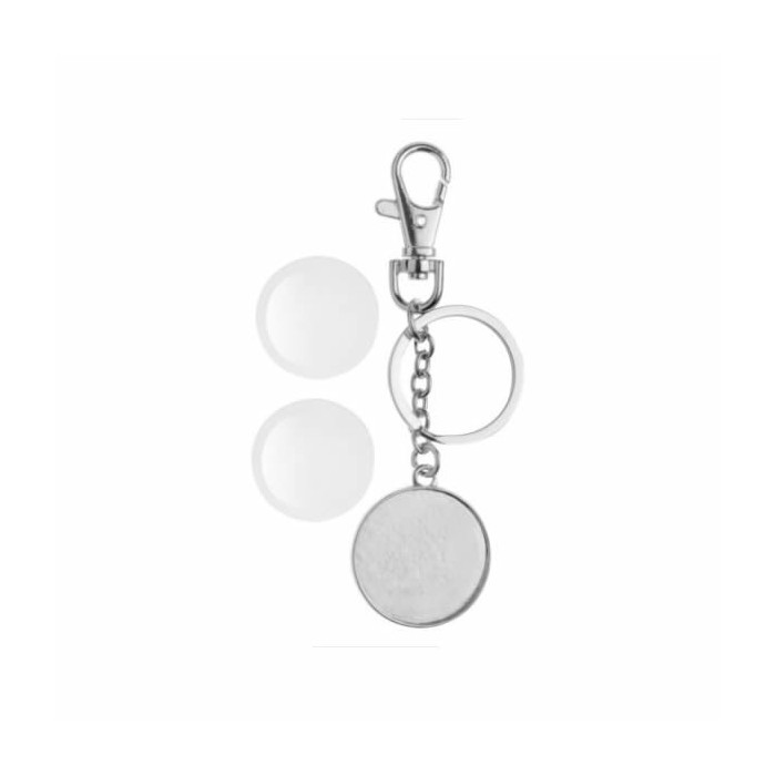 Keyring pendant two-sided round Ø32mm