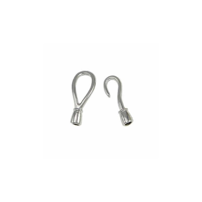 Hook clasp 55x15mm, silver colour