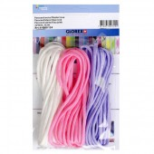 Paracord 2x4mm, 3x3m, white/lilac/rose