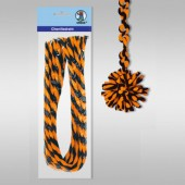 Pipe cleaners, 10 pces, orange-black