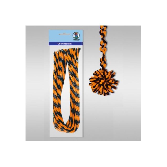 Pipe cleaners, 10 pces, orange-black