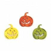 Wooden pumpkins Halloween, 4cm, 6 pcs